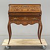 A 20th century mahogany  secretaire with blumen marqueterie.