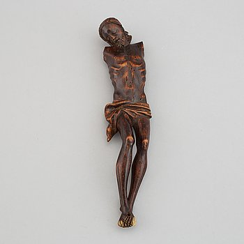 A wood crucifix, 17th/18th century.