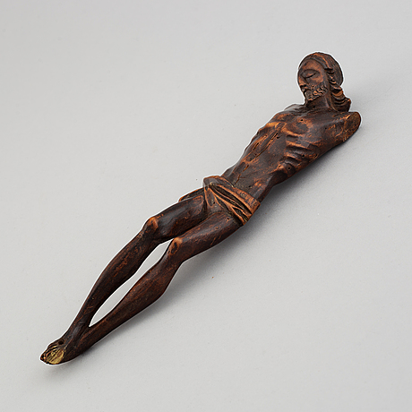 A wood crucifix, 17th/18th century.