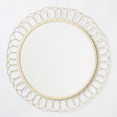 A painted metal mirror, first half of the 20th century.