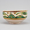 A french fayence bowl, 18th/19th century.