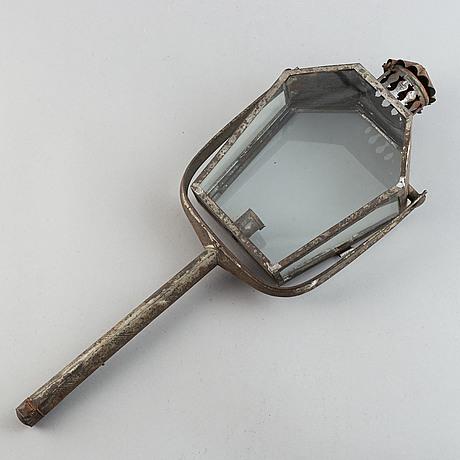 An 18th century tinplate servants lamp.