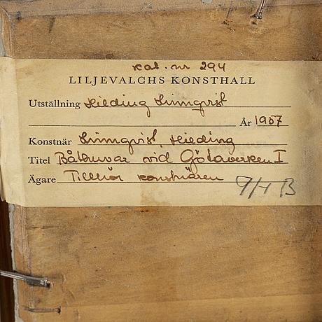 Hilding linnqvist, oil on panel, signed.