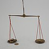 A pair of scales, for weighing gold, 18th century.
