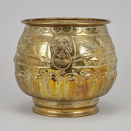 A 19th century brass urn.