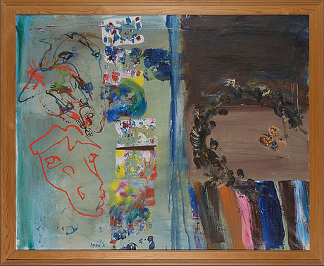 Igge karlsson, oil on canvas, signed and dated 1972.