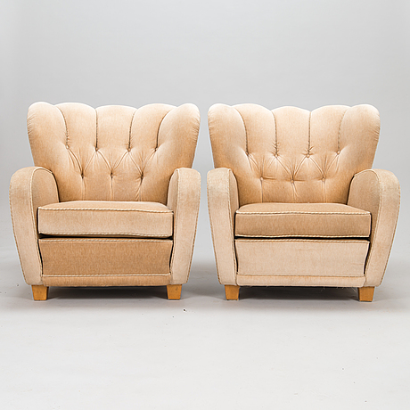 A pair of mid-20th century armchairs for haimi.
