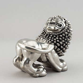 Anna Petrus, a pewter sculpture of a lion by Svenskt Tenn, Stockholm 1993.