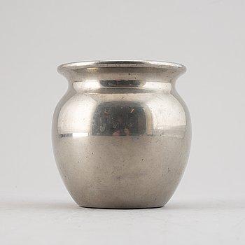 Estrid Ericson, a pewter vase, Firma Svenskt Tenn, Stockholm 1976.
