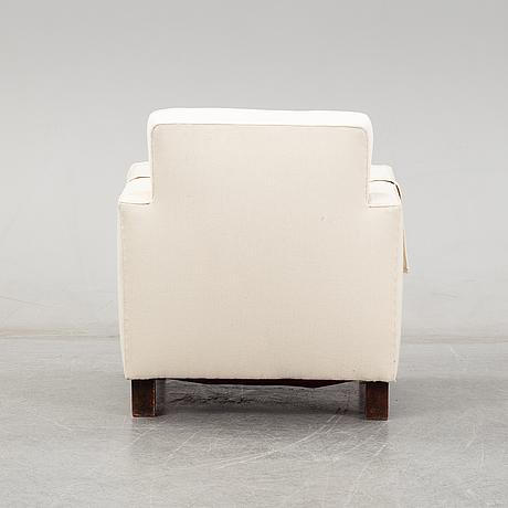 An easy chair attributed to björn trägårdh for firma svenskt tenn, mid 1900's.