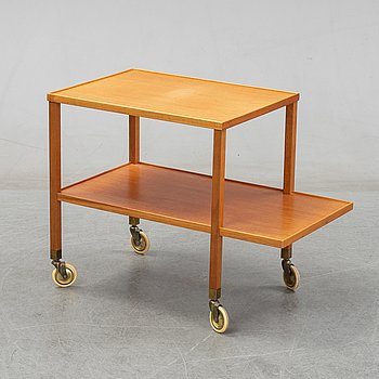 Josef Frank, a mahogany serving trolley for Firma Svenskt Tenn.
