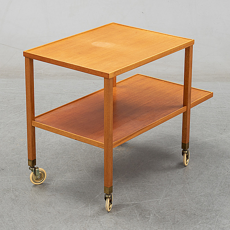 Josef frank, a mahogany serving trolley for firma svenskt tenn.
