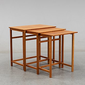 Josef Frank, a model 618 nesting table, post 1985.