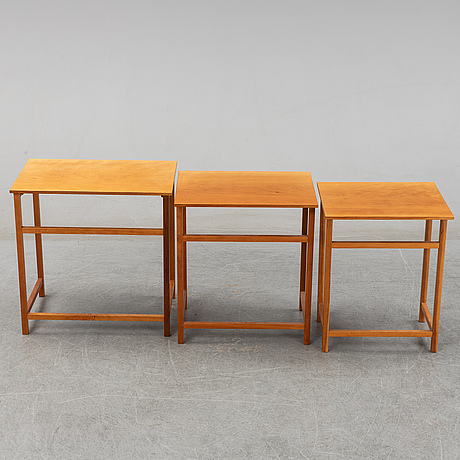 Josef frank, a model 618 nesting table, post 1985.