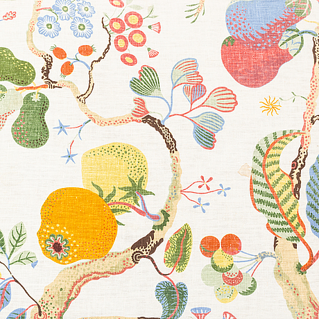 "Josef frank, a set of linen textiles, ""brazil"" and ""vegetable tree"", by firma svenskt tenn."