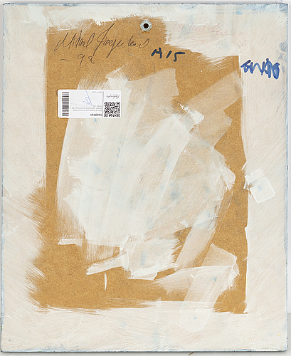 Mikael fagerlund, vinyl on mdf, signed and dated -98 verso.