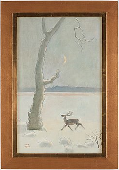 Einar Jolin, oil on canvas, signed and dated 1966.