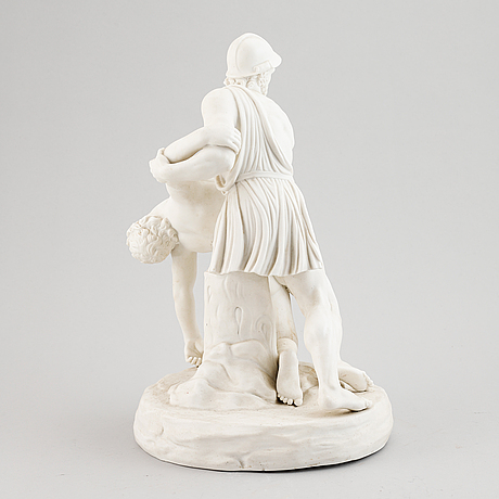 A parian ware sculpture after the pasquino group, around year 1900.