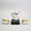 A swedish 20th century 3 pcs silver coffee service mark of g svensson kalmar 1918 total weight ca 960 gr.