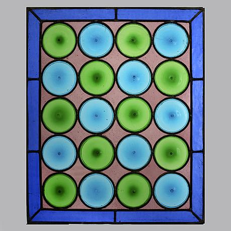 Blyinfattat glas, 4+2 st, 1900-talets första hälft.