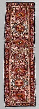 A runner, semi-antique, Karadja, ca 262 x 78 cm.