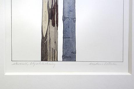 Anders österlin, akvarell, signerad.