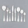A swedish 85 pieces set of silver cutlery mark of mgab lidköping 1960/70's.