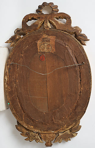 A late gustavian girandole mirror signed by claes eric reding, karlskrona, (master 1808-1815).