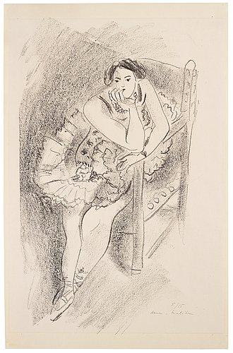 """Henri matisse, """"danseuse au fauteuil de bois"""" from the suite """"dix danseuses""""."""