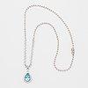 Topaz and brilliant-cut diamond necklace.