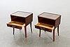 Sängbord, ett par, 1950-tal.