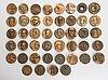 A set of 45 finnish bronze medals, latter half of 20th century.