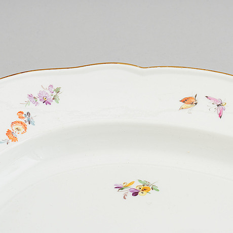 A large enamelled serving dish, meissen, 19th century.