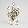 A meissen porcelaine candelabra, second half of the 19th century.