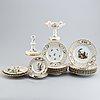 A part meissen porcelain service, 20th century (17 pieces).