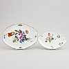 Two meissen serving dishes, 18th-19th century.