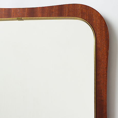 A pair of swedish modern mid 20th century mirrors.