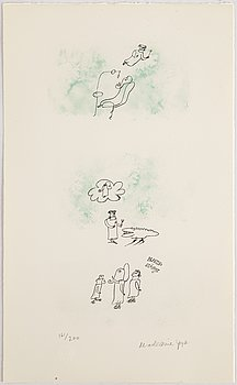 Madeleine Pyk, lithograph in colours, signed 161/200.