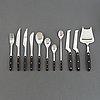 "Adolf babel, a set of 82  pcs ""kievari"" stainless steel flatware, hackman , finland, 1970s."