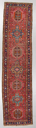 A semi-antique karadja, probably, runner, around 362 x 86 cm.