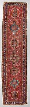 A semi-antique Karadja, probably, runner, around 362 x 86 cm.