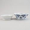 "A 35 piece ""blue fluted"" royal copenhagen lace and full-lace porcelain part coffee service."