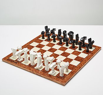 Bengt Lindström, chess game with chess pieces, executed around 1994-95.