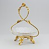 A glass bowl and brass stand, second half of the 19th century.