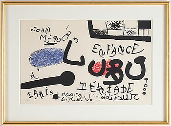 Joan Miró, lithograph in colour. Signed and numbered 91/120.