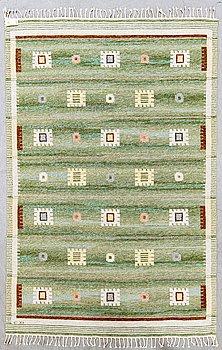 Carl Dangel, a flat weaver carpet ca 260 x 178 cm.