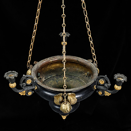 An empire style chandelier, early 20th century.