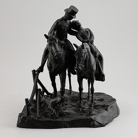 Unknown artist, sculpture, bronze.