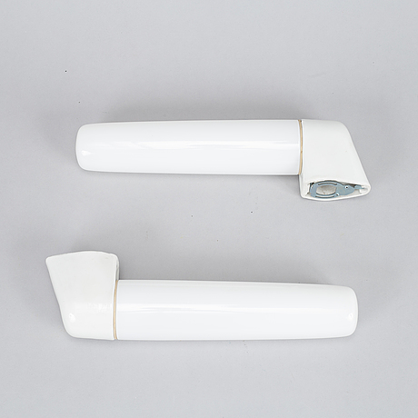 Wilhelm wagenfeld, two wall lamps for lindner, bamberg,