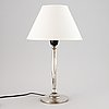 Cg hallberg, a silver plate 1930´s table lamp.